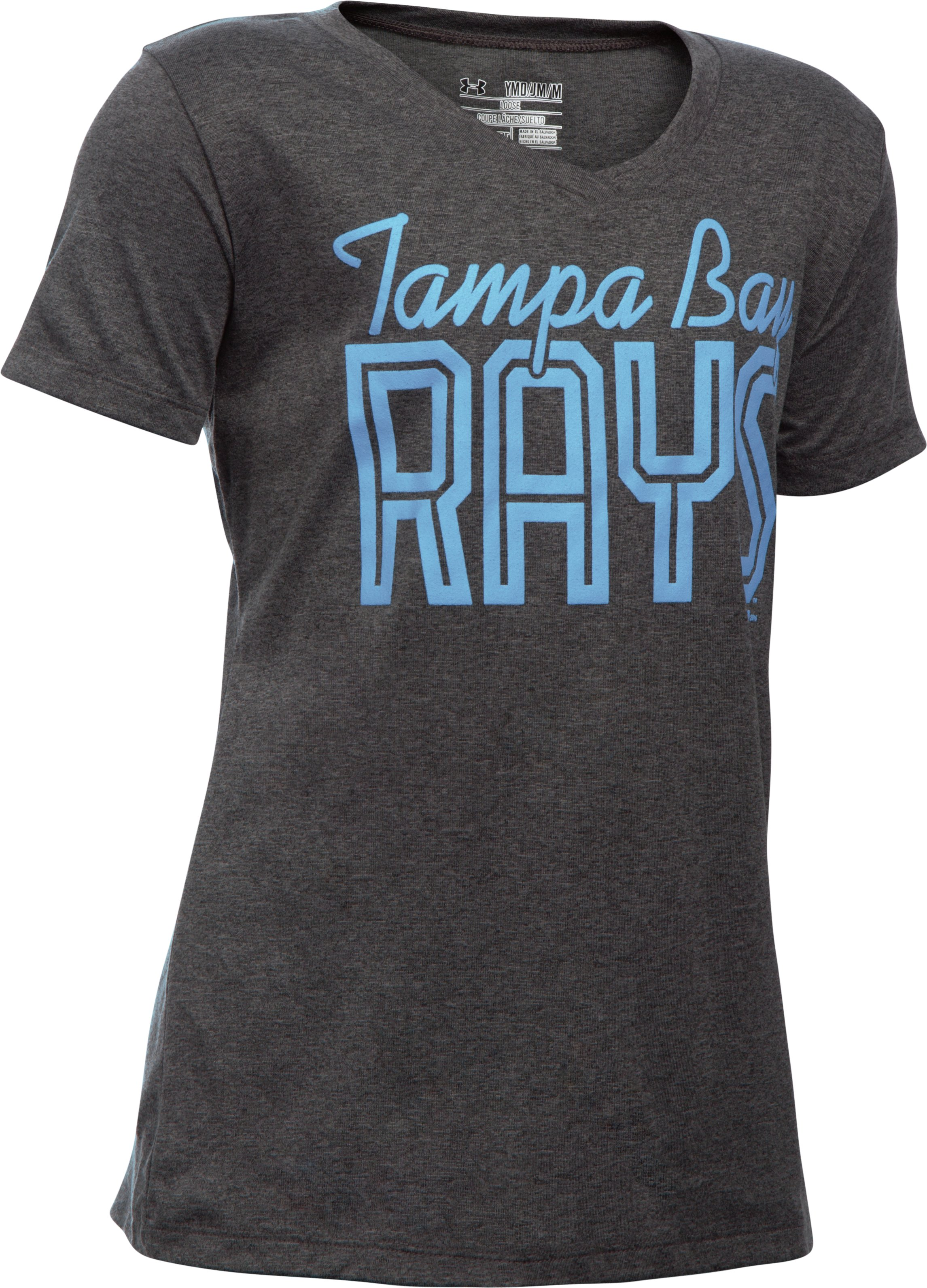 Girls' Tampa Bay Rays UA Tech™ T-Shirt, Carbon Heather,