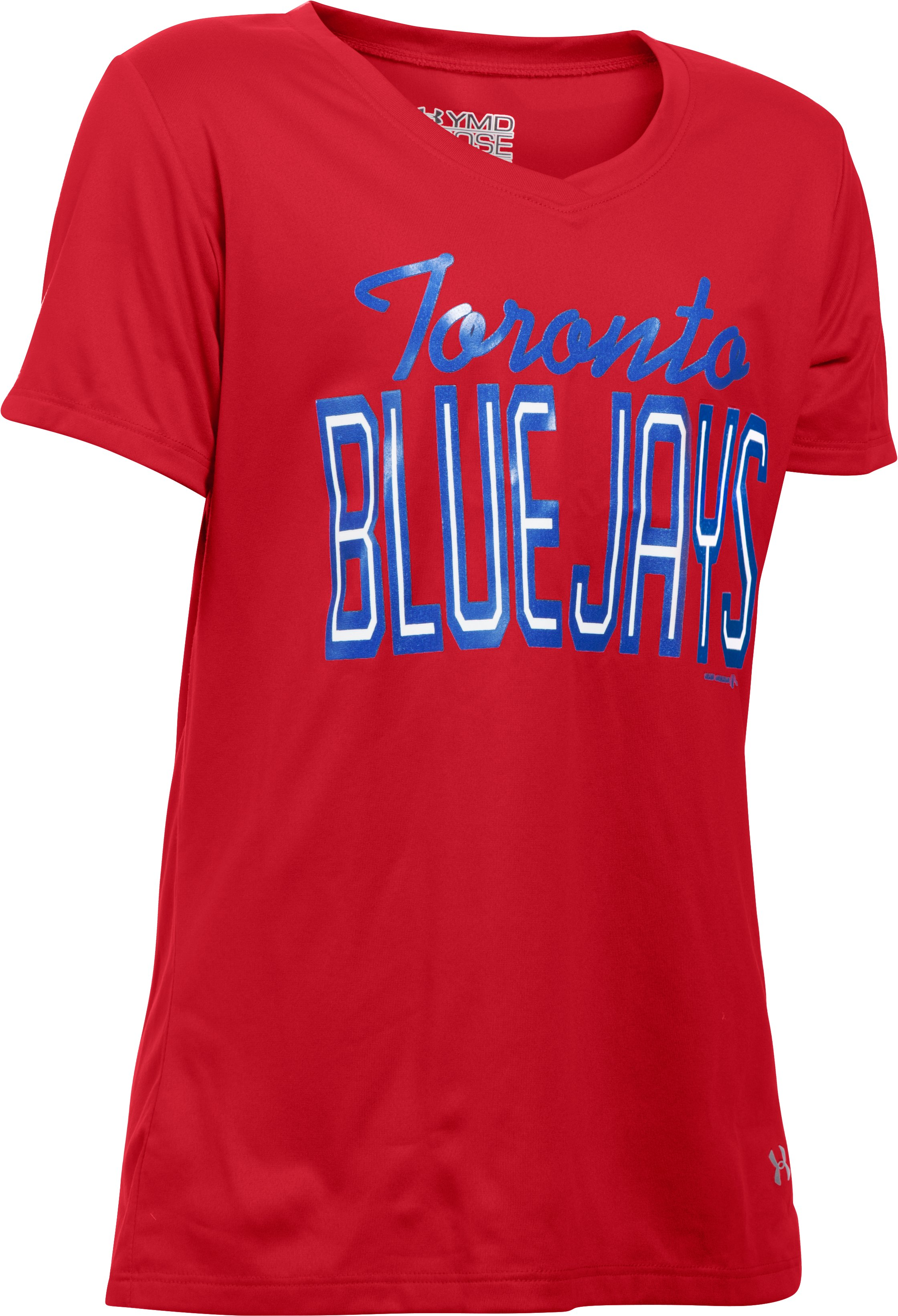 Girls' Toronto Blue Jays UA Tech™ T-Shirt, Red, undefined