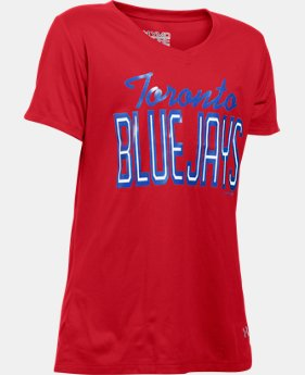 New Arrival  Girls' Toronto Blue Jays UA Tech™ T-Shirt   $29.99