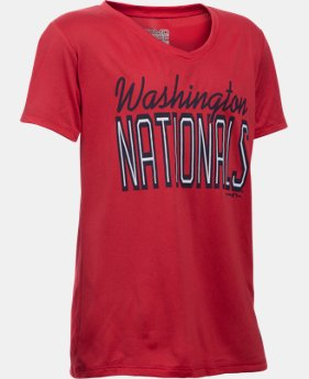 New Arrival Girls' Washington Nationals UA Tech™ T-Shirt  1  Color Available $24.99