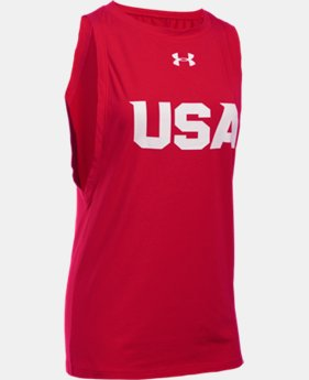 New Arrival UA USA Studio Tank LIMITED TIME: FREE SHIPPING  $29.99