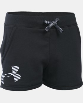 Girls' UA Favorite Fleece Shorts  2 Colors $18.99
