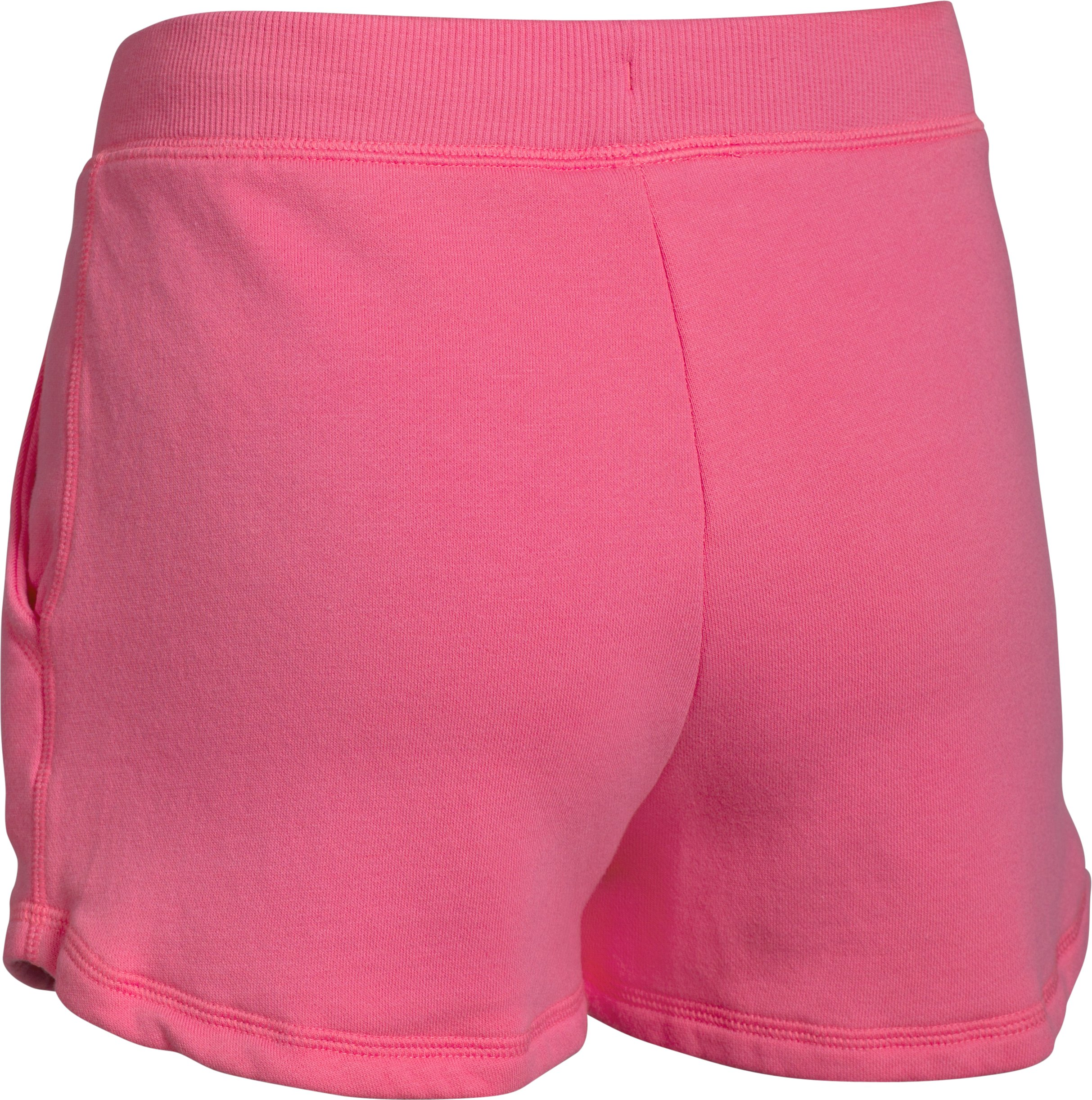 Girls' UA Favorite Fleece Shorts, SUPER PINK