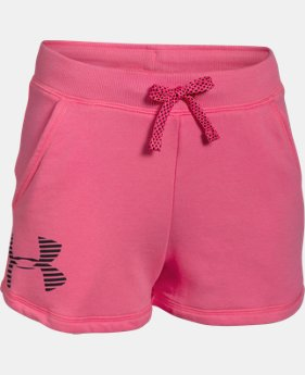 Girls' UA Favorite Fleece Shorts  2 Colors $14.24