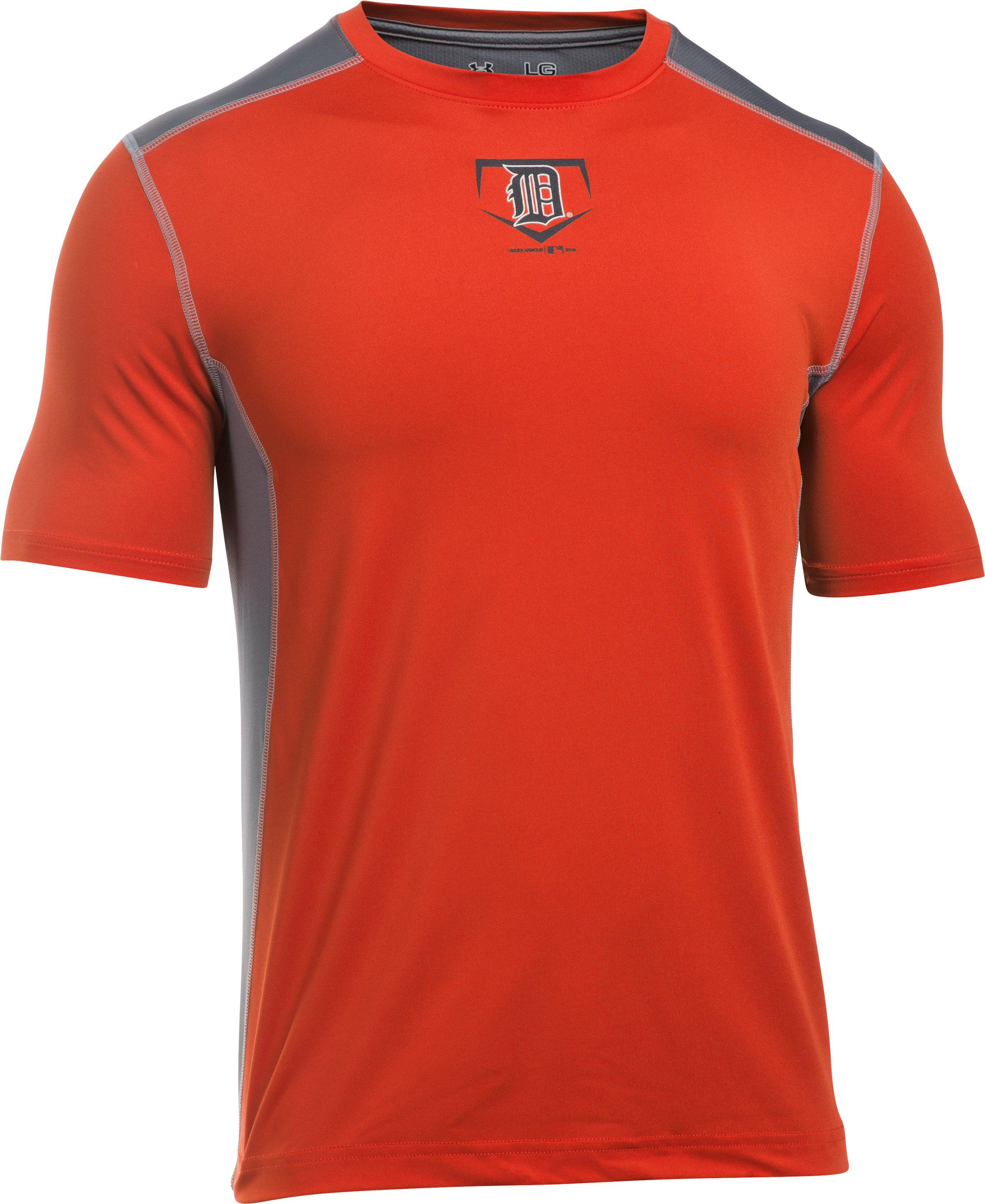 Men's Detroit Tigers UA Raid T-Shirt, Dark Orange