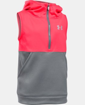 New Arrival Girls' UA Armour® Fleece 1/2 Zip Vest   $44.99