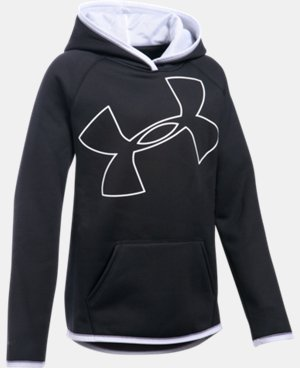 Girls' UA Armour® Fleece Jumbo Logo Hoodie LIMITED TIME: FREE SHIPPING 1 Color $37.49