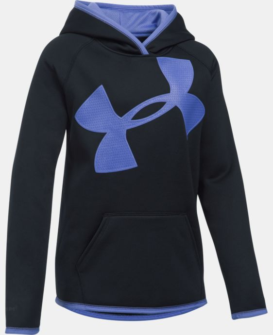 Girls' UA Armour® Fleece Jumbo Logo Hoodie LIMITED TIME OFFER + FREE U.S. SHIPPING  $29.99
