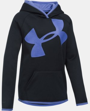 Girls' UA Armour® Fleece Jumbo Logo Hoodie LIMITED TIME: FREE U.S. SHIPPING  $33.74