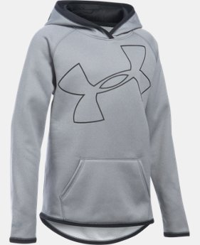 Girls' UA Armour® Fleece Jumbo Logo Hoodie   $20.99 to $25.49