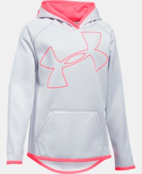 New to Outlet Girls' UA Armour® Fleece Jumbo Logo Hoodie LIMITED TIME OFFER 5 Colors $29.99
