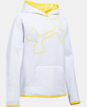 Girls' UA Armour® Fleece Jumbo Logo Hoodie   $20.99 to $26.99