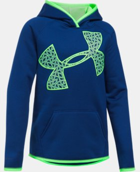 Girls' UA Armour® Fleece Jumbo Logo Hoodie LIMITED TIME OFFER 1 Color $29.99