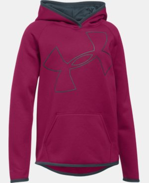 Girls' UA Armour® Fleece Jumbo Logo Hoodie LIMITED TIME OFFER + FREE U.S. SHIPPING 2 Colors $29.99