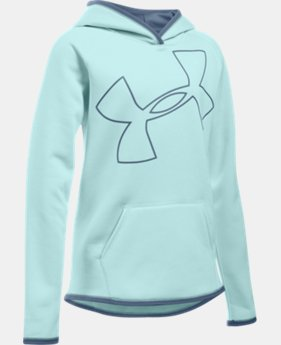 Girls' UA Armour® Fleece Jumbo Logo Hoodie LIMITED TIME OFFER + FREE U.S. SHIPPING 4 Colors $29.99