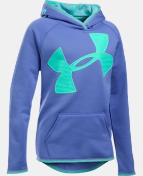 Girls' UA Armour® Fleece Jumbo Logo Hoodie LIMITED TIME OFFER + FREE U.S. SHIPPING 14 Colors $29.99