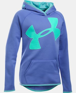 Girls' UA Armour® Fleece Jumbo Logo Hoodie LIMITED TIME OFFER + FREE U.S. SHIPPING 15 Colors $29.99