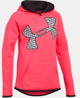 New to Outlet Girls' UA Armour® Fleece Jumbo Logo Hoodie  3 Colors $26.99 to $33.99