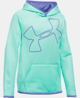 Girls' UA Armour® Fleece Jumbo Logo Hoodie  1 Color $37.49