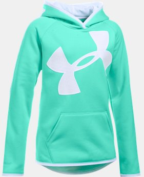 Girls' UA Armour® Fleece Jumbo Logo Hoodie  11 Colors $25.99 to $33.99