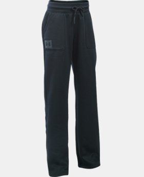 Girls' UA Armour® Fleece Boyfriend Pants LIMITED TIME: FREE SHIPPING 2 Colors $49.99
