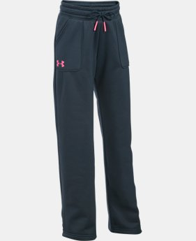 Girls' UA Armour® Fleece Boyfriend Pants  1 Color $27.99