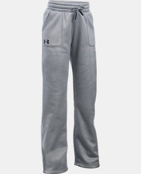 New to Outlet Girls' UA Armour® Fleece Boyfriend Pants LIMITED TIME OFFER 2 Colors $29.99