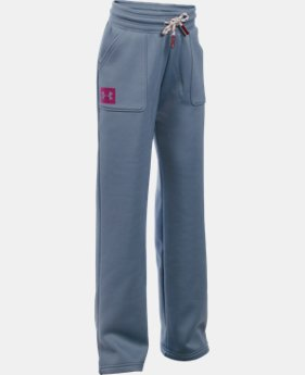 Girls' UA Armour® Fleece Boyfriend Pants  1 Color $44.99