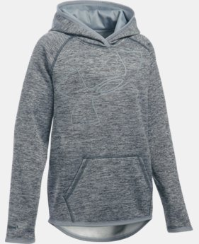Best Seller Girls' UA Armour® Fleece Novelty Jumbo Logo Hoodie  5 Colors $49.99