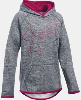 Girls' UA Armour® Fleece Novelty Jumbo Logo Hoodie LIMITED TIME: FREE SHIPPING 4 Colors $44.99