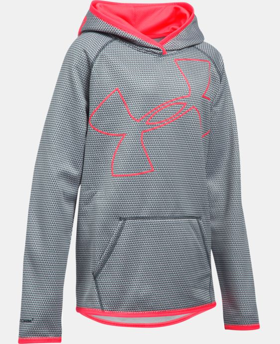Girls' UA Armour® Fleece Novelty Jumbo Logo Hoodie  1 Color $59.99