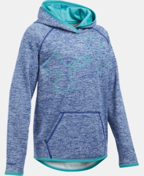New Arrival Girls' UA Armour® Fleece Novelty Jumbo Logo Hoodie   $49.99