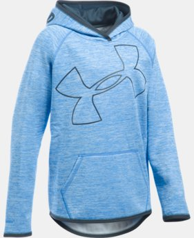 Best Seller Girls' UA Armour® Fleece Novelty Jumbo Logo Hoodie   $49.99
