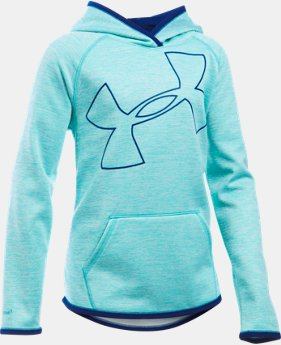 New Arrival  Girls' UA Armour® Fleece Novelty Jumbo Logo Hoodie   $59.99