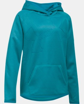 Girls' UA Armour® Fleece Novelty Jumbo Logo Hoodie LIMITED TIME OFFER + FREE U.S. SHIPPING  $29.99