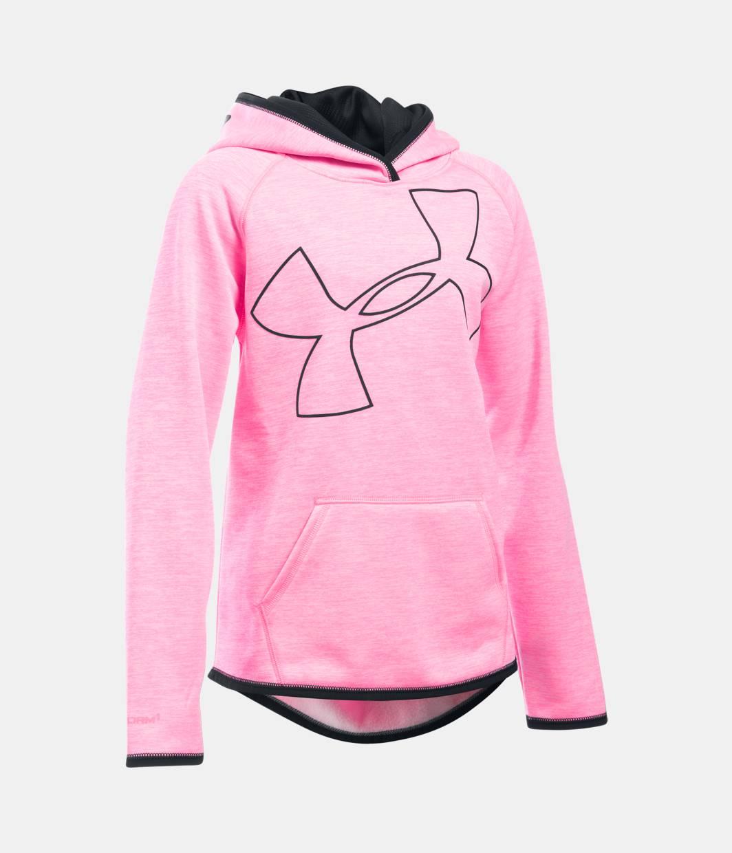 Girls' UA Armour® Fleece Novelty Jumbo Logo Hoodie   Under Armour US
