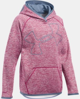 Girls' UA Armour® Fleece Jumbo Logo Hoodie  2 Colors $21.37 to $23.24