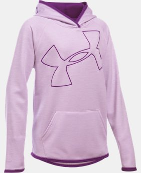 Girls' UA Armour® Fleece Jumbo Logo Hoodie   $28.49 to $30.99