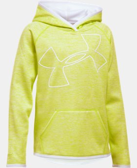 New Arrival Girls' UA Armour® Fleece Novelty Jumbo Logo Hoodie  1 Color $49.99