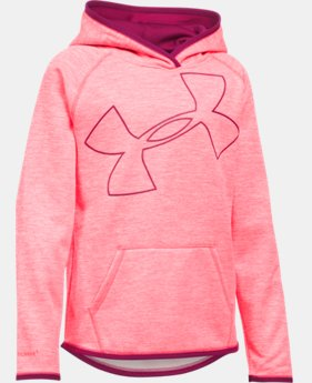 New to Outlet Girls' UA Armour® Fleece Jumbo Logo Hoodie  1 Color $30.99 to $37.99