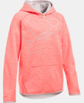 Best Seller Girls' UA Armour® Fleece Novelty Jumbo Logo Hoodie  1 Color $49.99