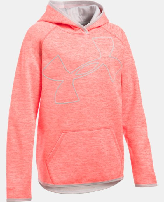 Girls' UA Armour® Fleece Novelty Jumbo Logo Hoodie LIMITED TIME: FREE SHIPPING 2 Colors $44.99