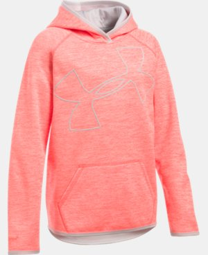 Girls' UA Armour® Fleece Novelty Jumbo Logo Hoodie LIMITED TIME: FREE SHIPPING 19 Colors $44.99