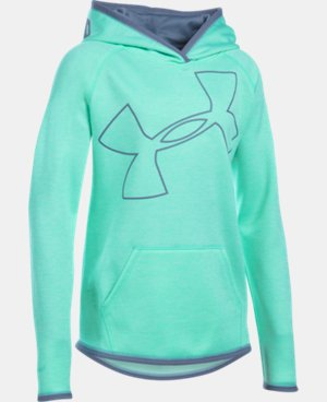 Girls' UA Armour® Fleece Novelty Jumbo Logo Hoodie LIMITED TIME: FREE SHIPPING 1 Color $44.99