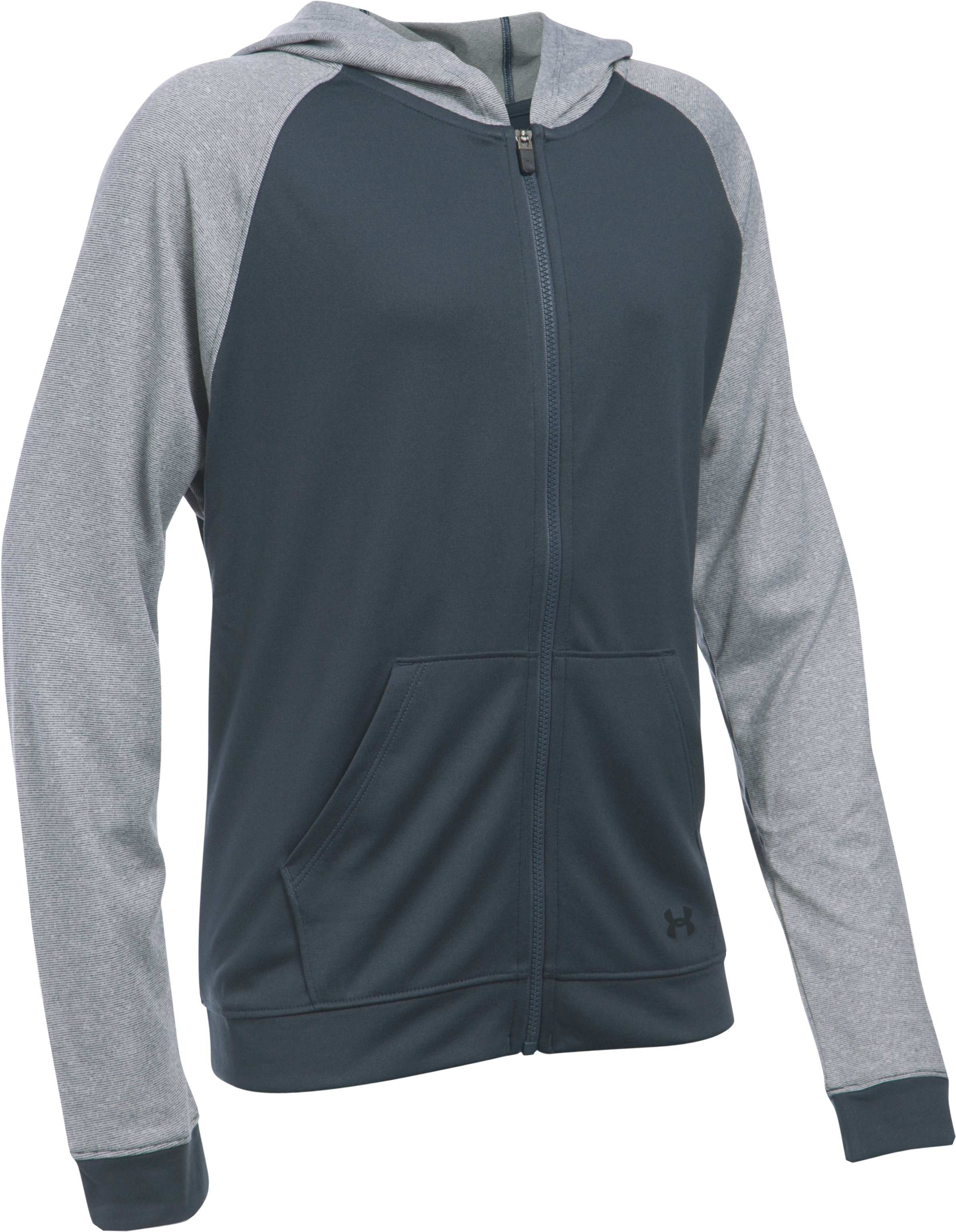 Girls' UA Tech™ Full Zip Hoodie, STEALTH GRAY