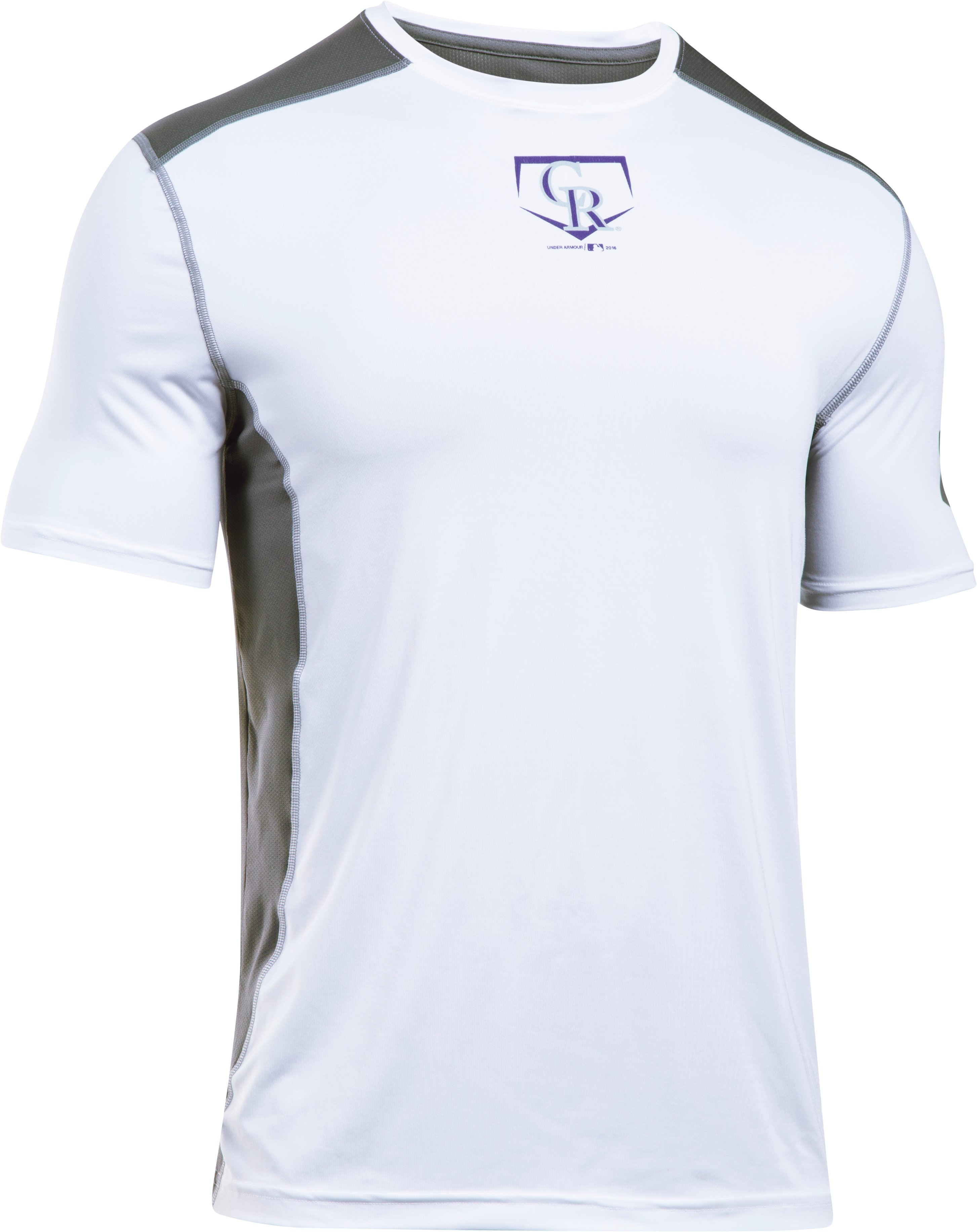 Men's Colorado Rockies UA Raid T-Shirt, White, undefined