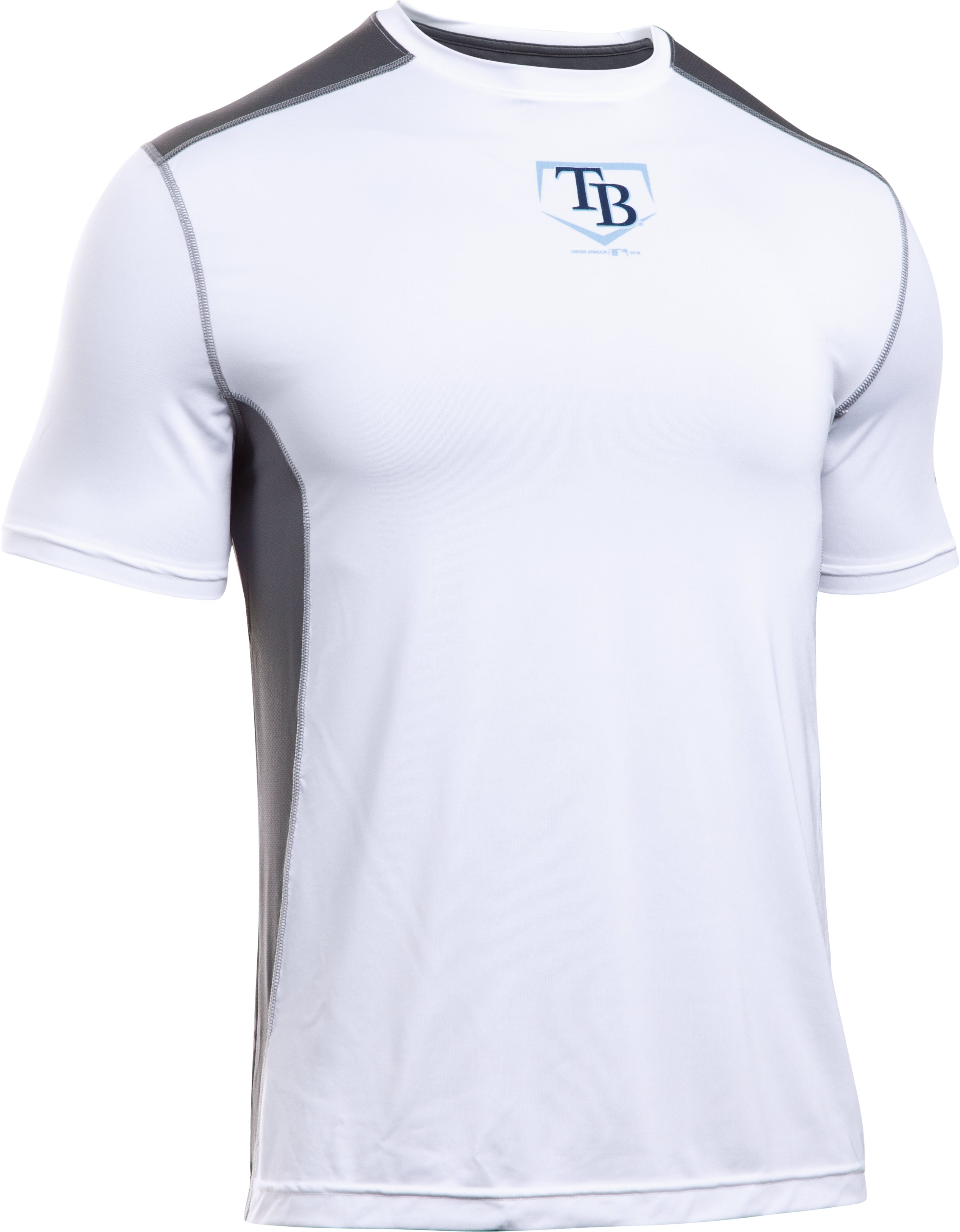 Men's Tampa Bay Rays UA Raid T-Shirt, White, undefined