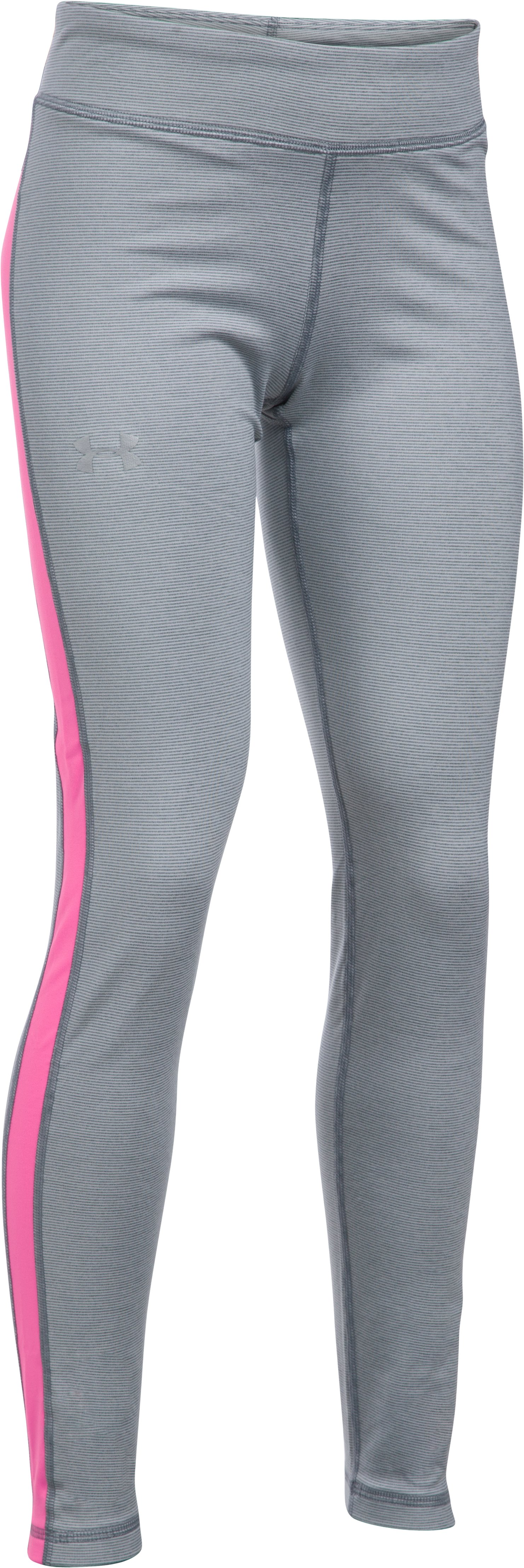 Girls' UA ColdGear® Armour Leggings, Steel,
