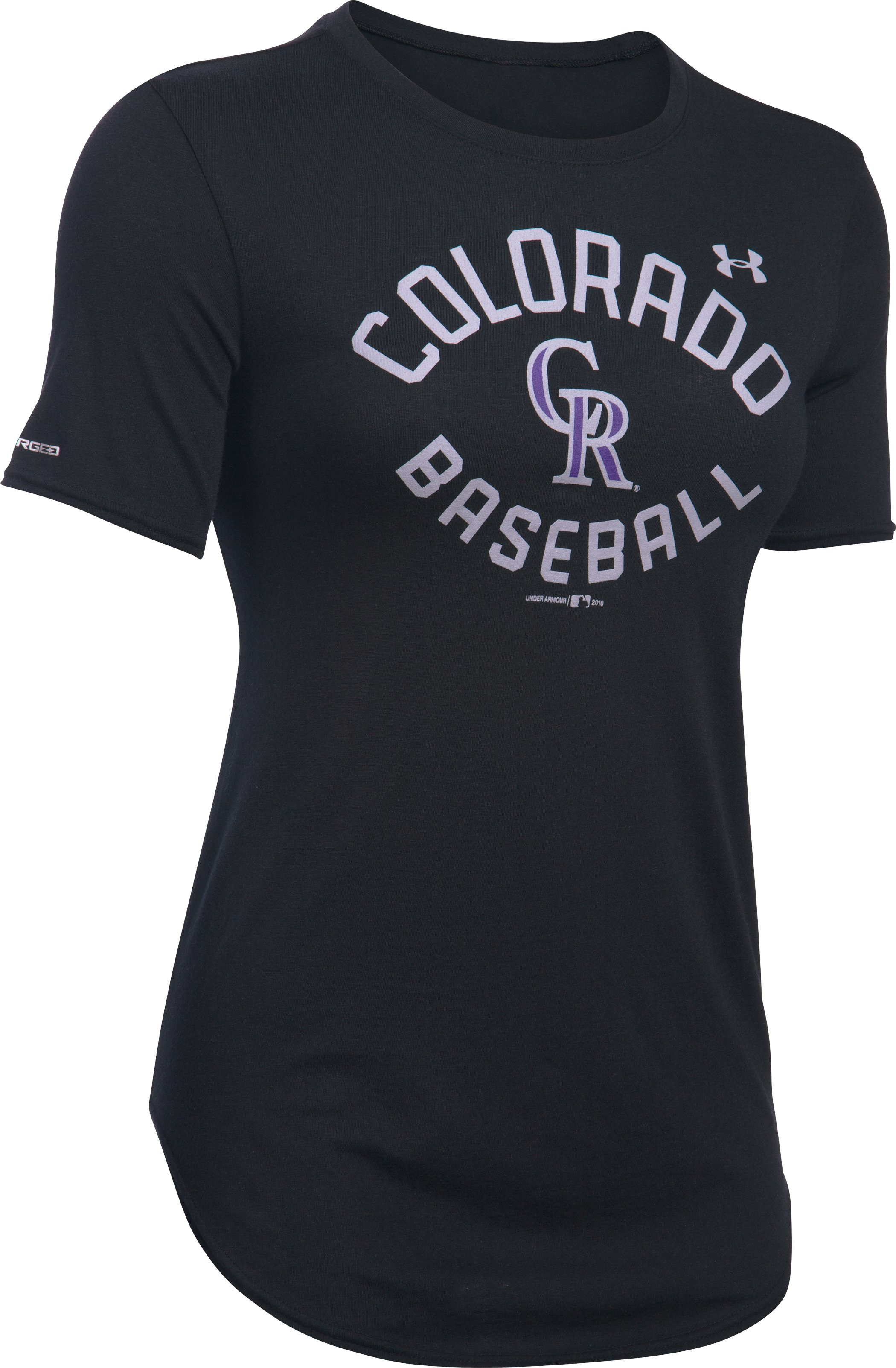 Women's Colorado Rockies Crew, Black ,