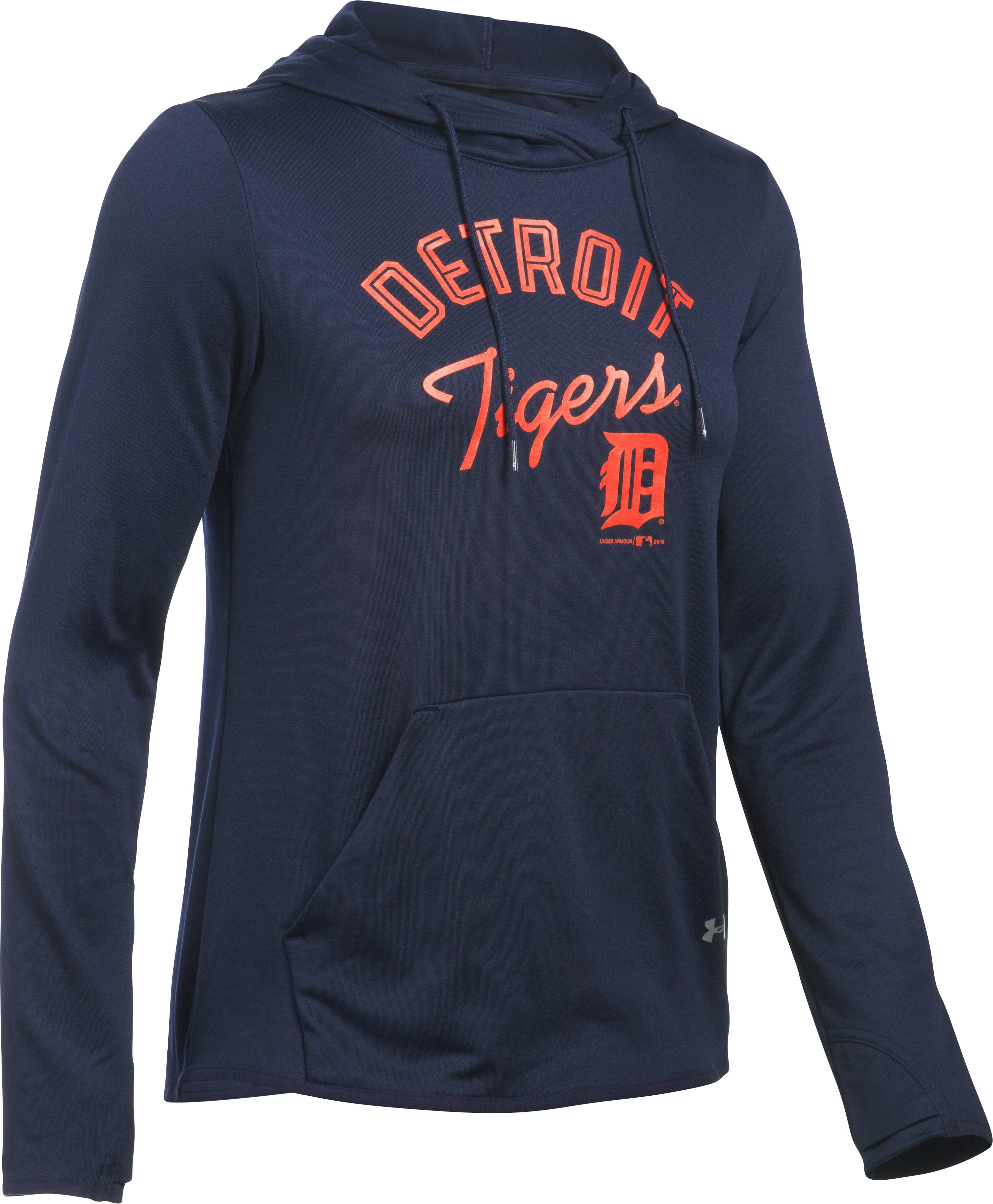 Women's Detroit Tigers UA French Terry Hoodie, Midnight Navy